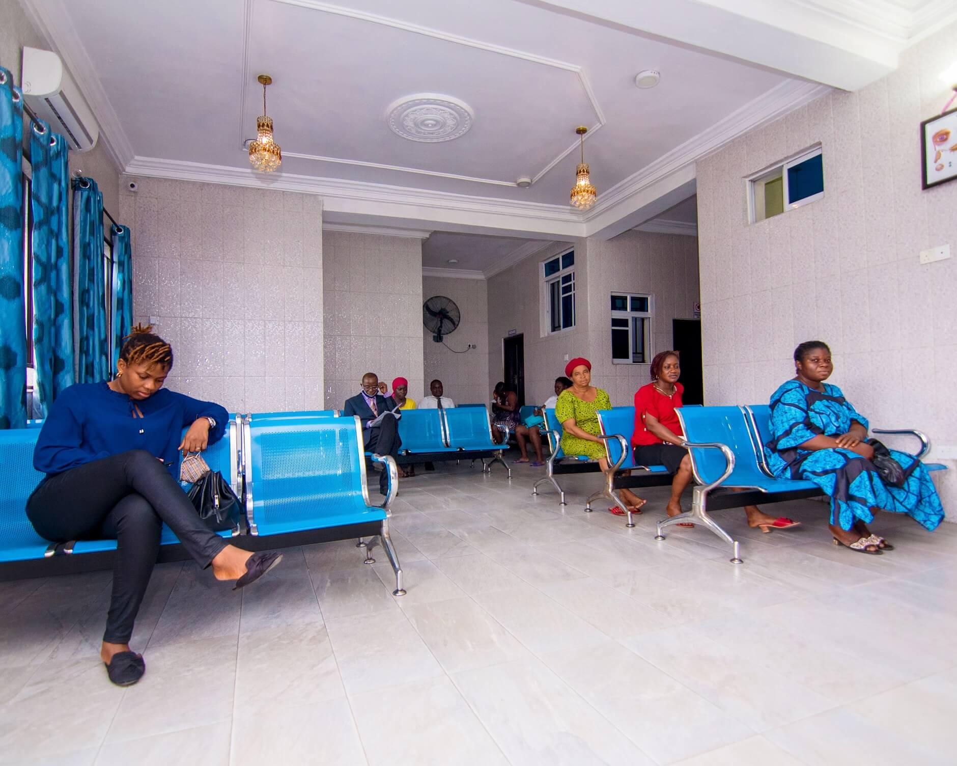 reception at Shammah Christian Hospital in Port Harcourt