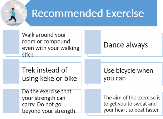 recommended exercises