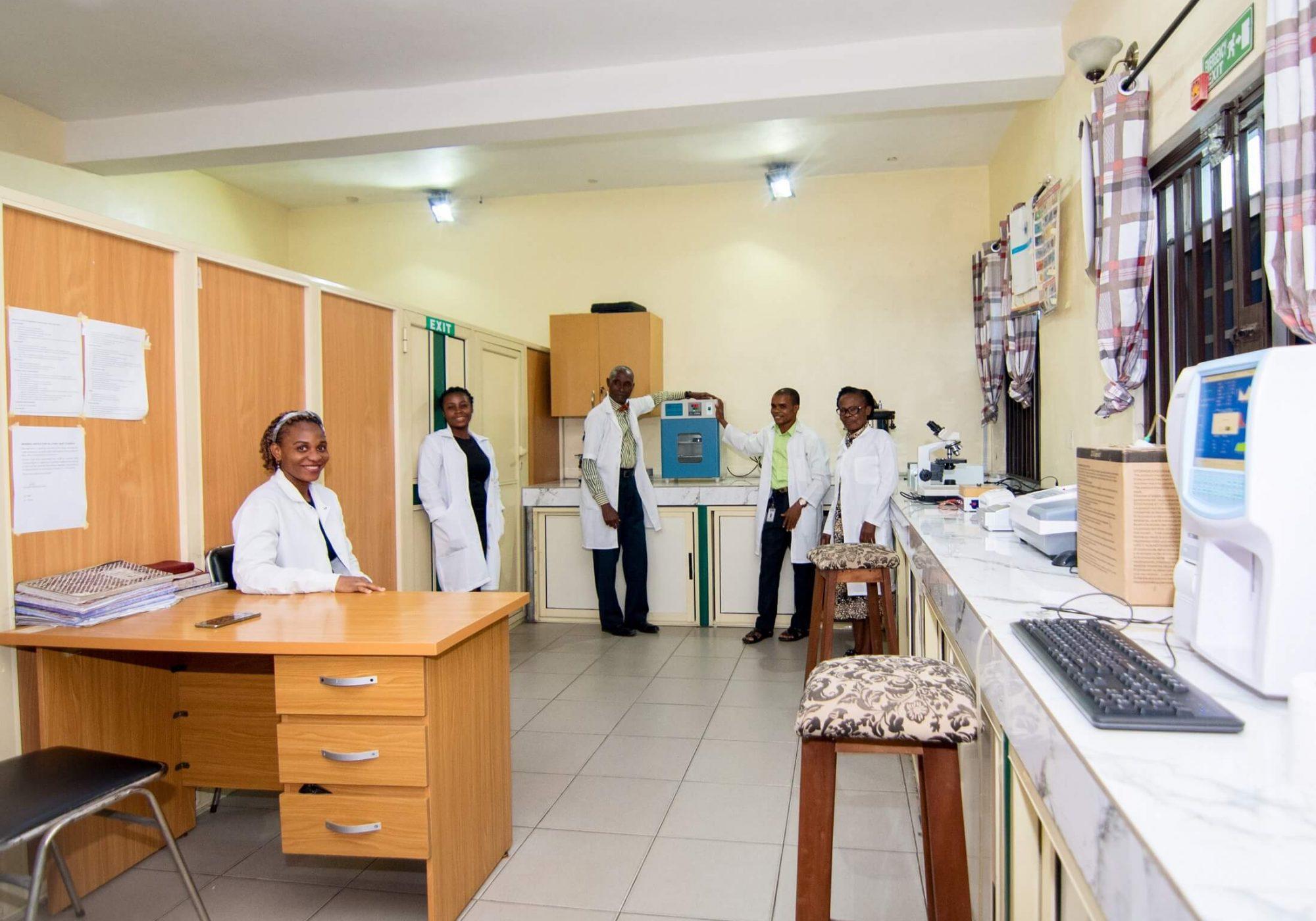 Laboratory at Shammah Christian in Hospital Port Harcourt